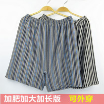 Middle-aged lycra cotton home men's underwear plus fertilizer to increase the loose-type boxer old dad cotton underwear