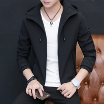 Spring and autumn 2019 New mens hooded jacket Jacket youth Korean version of the trend slim casual shirt clothes men