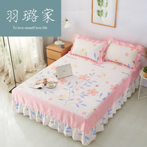 Korean princess 1 8 bed skirt cotton bedspread bed cover 1 5 M bed cover cotton single-piece non-slip bed sheet protective cover