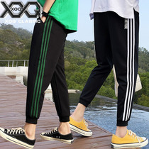 Men's casual sports pants running Korean version of the trend pants loose wild Tide brand thin slim nine beam pants