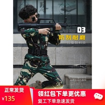 Special soldier camouflage suit children and girls dressed in spring and autumn military uniforms students summer camp military training uniformperformance performance