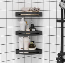 Bathroom toilet rack free punch wall toilet toilet wall triangle corner variety of storage artifact