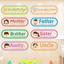 Early childhood English education training classes hosting Center institutional culture Wall classroom wall stickers decoration cartoon