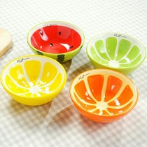 Creative watermelon bowl fruit bowl home Bowl cartoon Bowl cute Japanese and Korean pottery tableware student suit