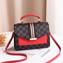 Sen Department of small bag female spring and summer 2019 new tide Hong Kong style retro simple messenger bag lock buckle tofu bag small square bag