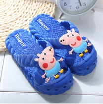 9 9 Summer cartoon piglet children slippers baby bathroom non-slip sandals slippers Boys Girls Summer Sandals