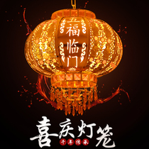 New red lanterns clouds balcony Chinese chandeliers outdoor wedding decoration led lights rotating lights
