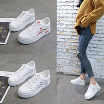 Spring small white shoes female 2019 foreign net Red Korean version of the foot small fresh increase casual shoes female thick bottom wild