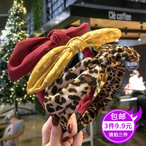 Version coréenne de la bande rouge à large bord cute bow wash hair female wearing a wild fresh Bao WEN headband hairpin