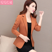 2019 spring new chic suit female long sleeve casual temperament Korean small suit jacket short paragraph shirt slim