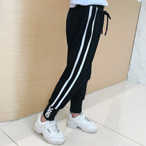 Girls 2019 new autumn childrens clothing in the Big childrens trousers slim pants childrens elastic straight pants tide