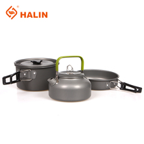 Camping sets of pot 2-3 people outdoor cookware picnic pot set pot teapot combination portable suit