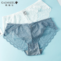 Gorrell stylish sexy sweet lace panties lady cute comfortable waist flat-horned pants head 190801A