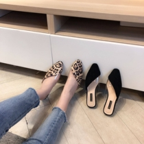 Womens shoes sexy new spring new lady snapped BAO WEN slippers shoes Japanese pointed new spring and summer models home
