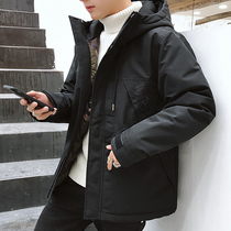 Mens coat Winter 2018 new Korean version of the trend short bread clothes handsome winter clothes down cotton clothing cotton jacket cotton coat
