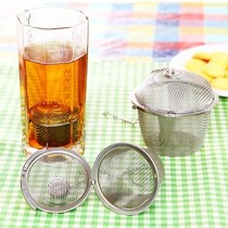 Stainless steel tea ball package seasoning taste treasure seasoning box ball soup filter tennis filter tea bag
