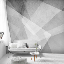 Nordic Simple stereo grey geometric wallpaper art seamless non-woven living room bedroom cement background wall paper