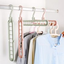 Multi-function non-slip hanger wardrobe finishing storage clothes support home space-saving adult wind hanger