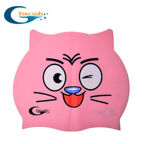 yonsub cartoon pure silicone swimming cap swimming training children's cap elastic waterproof bag ear swimming cap