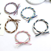 Japan and South Korea version of the color twist hair ring hair rope rope plus thick rubber band hair rope leather hair accessories headdress new