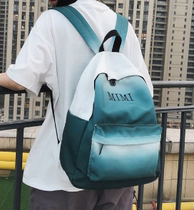 Gradient color canvas shoulder bag female large capacity mimi small fresh lady backpack tide high school students school bag male