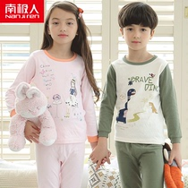 Antarctic childrens clothing childrens cotton autumn clothes autumn boys and girls baby pajamas spring underwear pajamas set
