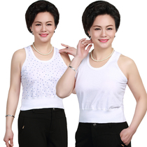 2 pieces of summer old woman mother cotton camisole old man large size loose underwear undershirt