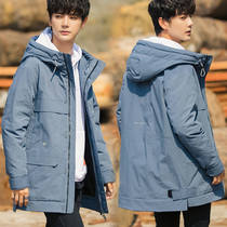Winter season 2019 New down jacket men's Korean version of loose tide workwear student jacket ulzzang youth