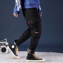 Overalls mens Tide brand spring and autumn loose autumn Haren feet pants casual pants sports pants beam feet trousers