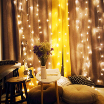 Christmas home New Year LED net red lights flashing lights string lights gypsophila romantic decorative waterfall curtains New Year