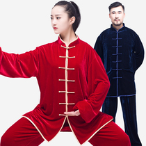 50afe6318 USD 96.11] Tai Chi Clothing gold velvet female autumn and winter ...