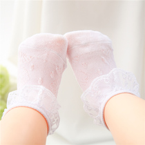 Baby socks summer thin section 0-1 years old baby lace socks 1-3 years old girl lace princess children boat socks socks