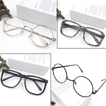 Classical round myopia glasses frame men and women trend no lens eyes silver garden large frame retro eye frame frame