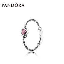 3510c5c4a PANDORA Pandora throbbing heart 925 silver ring 197191CZ retro simple  fashion personality ring female