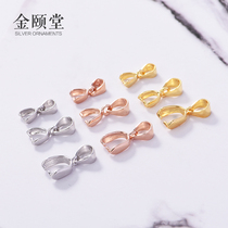 S925 silver pendant buckle sterling silver melon deduction 18k rose gold yellow gold DIY accessories Emerald beeswax card clip clip