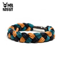 Vibrato hand-woven burning gyroscope black green brown bracelet couple with the same wish hand rope jewelry gift
