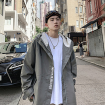 2019 autumn new jacket mens Korean version of the trend of clothing plus fat plus size young men handsome jacket