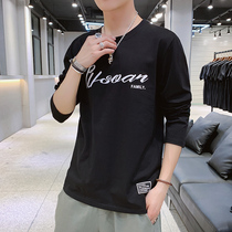 Youth autumn round neck long-sleeved T-shirt male Korean version of the slim trend wild bottoming shirt loose casual autumn clothing men