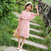 Childrens skirt summer style 3 Korean version 5 fashion 6 fashionable chiffon 10 large children 12 years old 6 Princess 2019 strapless