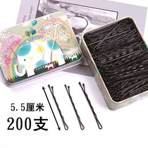 Black u-shaped hairpin female headdress hairpin broken hair fixed pin adult head back hair tools