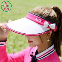 5f3cb8d1534 2018 new sports leisure ladies golf hat female sun hat white rose red empty  top hat