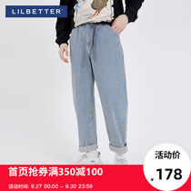Lilbetter men's jeans trend Korean wild pants Tide brand stripes Japanese trousers autumn men's pants