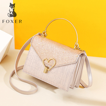 Gold Fox ladies bag 2019 summer new fashion atmosphere handbag simple casual Messenger shoulder bag