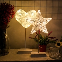 Net Red Table Lamp girl heart room bedroom layout decorative lights Sen Department of Star lights romantic creative Night Light