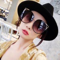 18696080b1 Large frame to increase the round face sunglasses female tide 2018 new  retro cat eye sunglasses
