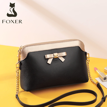 Gold Fox leather bag handbags new 2019 fashion texture shoulder autumn and winter stitching chain ladies messenger bag