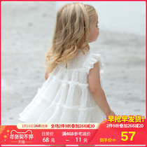 Girls summer dress 2020 new tide yearling baby vest princess skirt baby chiffon skirt