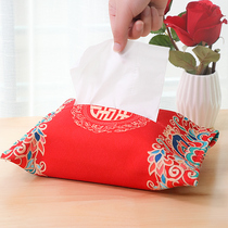 Wedding supplies large full satin paper towel box set creative Chinese fabric wedding room decoration home wedding paper box set