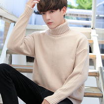 2018 new autumn and winter turtleneck sweater mens Korean loose knitwear trend personality thickening linens winter clothing