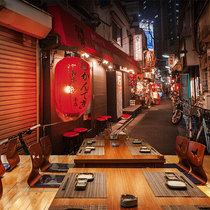 3d stereoscopic Japanese street wallpaper Japanese cuisine sushi restaurant and wind decoration wallpaper street murals around the world